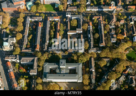 Aerial view, German Pension Insurance for Miners underground lake York Street, Bochum, Ruhr area, North Rhine-Westphalia, - Stock Photo