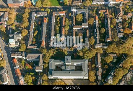 Aerial view, German Pension Insurance for Miners underground lake York Street, Bochum, Ruhr area, North Rhine-Westphalia, - Stock Photo