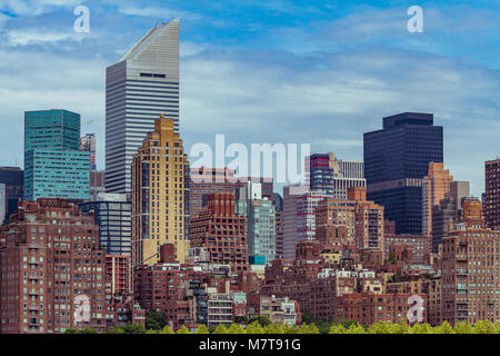 The Citigroup Center in Midtown Manhattan from The East River , New York - Stock Photo