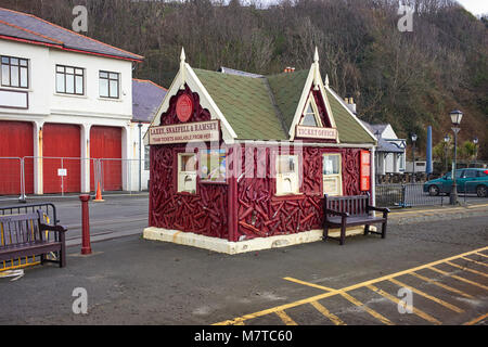 The tram ticket office for Laxey, Snaefell and Ramsey at the Douglas Terminus - Stock Photo