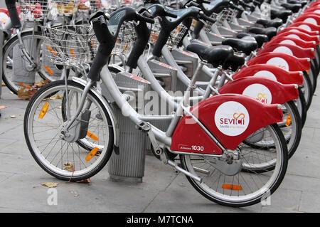 Sevilla Seville Spain The Sevici public sponsored bike ...
