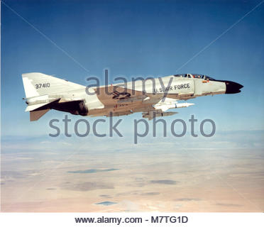 A US Air Force McDonnell F-4C-15-MC Phantom II (sn 63-7410). Adapted from the U.S. Navy's F-4H-1 to meet an urgent - Stock Photo