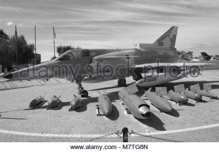 An Israel Aircraft Industries (IAF) Kfir C2 at the Muzeyon. - Stock Photo