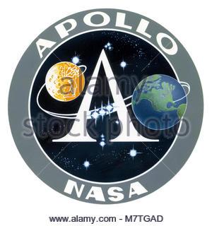 Apollo emblem. Apollo Missions  › Apollo 1  › Apollo 7  › Apollo 8  › Apollo 9  › Apollo 10  › Apollo 11  › Apollo - Stock Photo