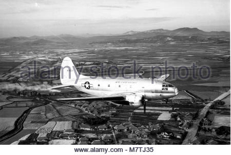 Curtiss C-46D-15-CU Commando (sn 44-78024) assigned to the 315th Air. - Stock Photo