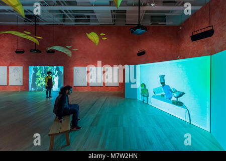 London, UK. 13th March, 2018. Stream or River, Flight or Pattern - Joan Jonas, Tate Modern opens largest survey - Stock Photo