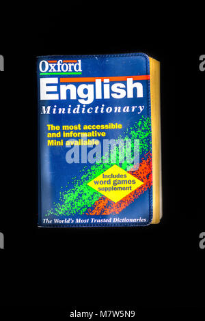 Cover of the fiction book from Oxfod press with the title Oxford english mini dictionary - Stock Photo