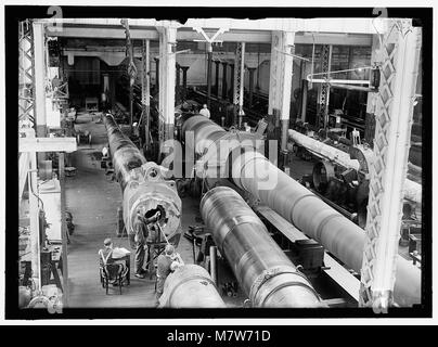 NAVY YARD, U.S., WASHINGTON. 14 INCH GUNS, READY TO GO TO PROVING GROUND LCCN2016868723 - Stock Photo