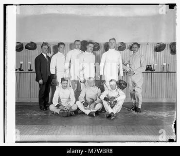 Olympic fencing team, 3-24-24 LOC npcc.10843 - Stock Photo