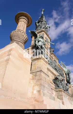 Niederwalddenkmal, Rüdesheim, Rheingau, Hessen, Deutschland - Stock Photo