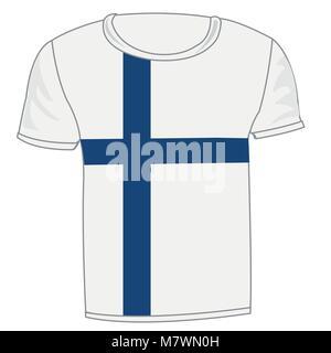 T-shirt flag Finland - Stock Photo