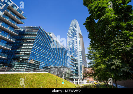 MILAN, ITALY, JUNE, 7, 2017 - View of Diamante (Diamond) Tower and Samsung building inside 'Porta Nuova' Area in - Stock Photo