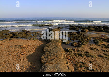 Albufeira beach in Algarve, Portugal - Stock Photo