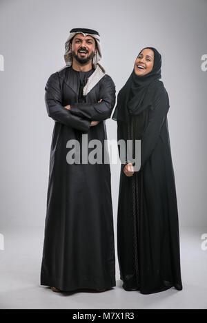 Arabic handsome man studio portraits - Stock Photo