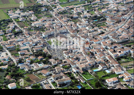 Aerial view of Sainte-Marie-de-Re, Ile de Re (Isle of Rhe), off the west coast of France - Stock Photo