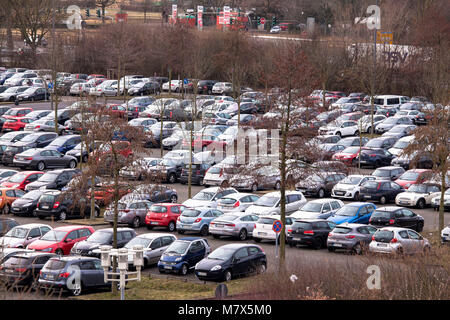 Germany, Cologne, Park and Ride car park Weiden-West at the Aachener Street in the district Weiden.  Deutschland, - Stock Photo