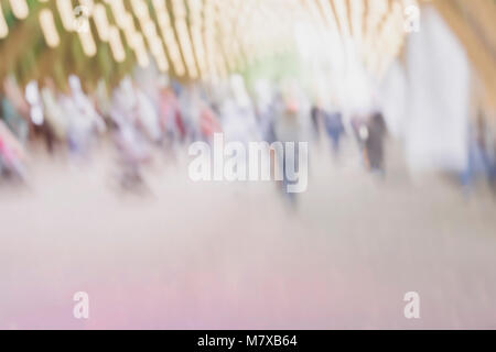 Abstract blurred unrecognizable people silhouettes for creative background, pantone fashion colors with copy space - Stock Photo