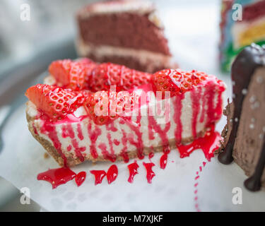 Cake, Crepes, Cheesecake and Desserts - Stock Photo