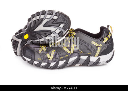 Trail running shoes, isolated on white - Stock Photo