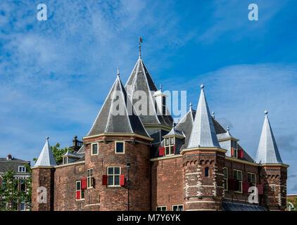 Waag, Nieuwmarkt Square, Amsterdam, North Holland, The Netherlands - Stock Photo