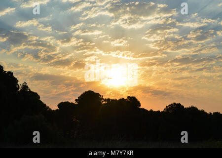 Morning sky in Spain. - Stock Photo