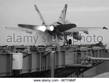 McDonnell Douglas FA-18C Hornet assigned to the Vigilantes of Strike. An F/A-18C Hornet assigned to the Vigilantes - Stock Photo