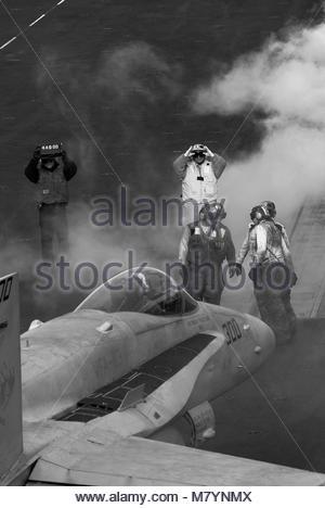 McDonnell Douglas FA-18C Hornet of Strike Fighter Squadron 113 Stingers. Navy Strike Fighter Squadron 113 (VFA-113) - Stock Photo