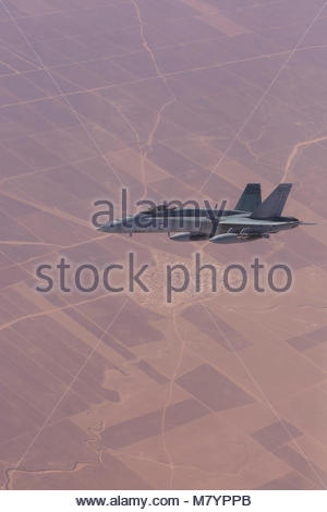 OPERATION OKRA. An F/A-18A ''Hornet'' from Air Task Group 630 Strike Element flying in the Middle East Region during - Stock Photo