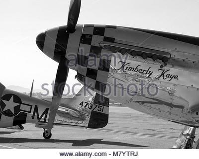 . North American  P-51D Mustang 'Kimberly Kaye' - Stock Photo