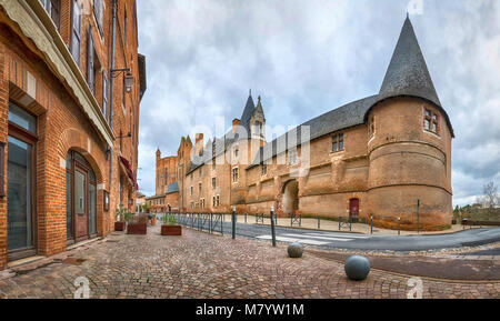 Palais de la Berbie - formerly the Bishop Palace in Albi, Occitanie, France (HDR - image) - Stock Photo