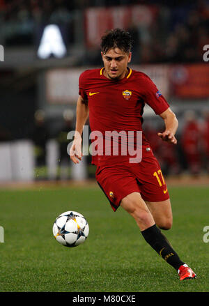 Roma s Cengiz Under in action during the Uefa Champions League round of 16 second leg soccer match between Roma - Stock Photo