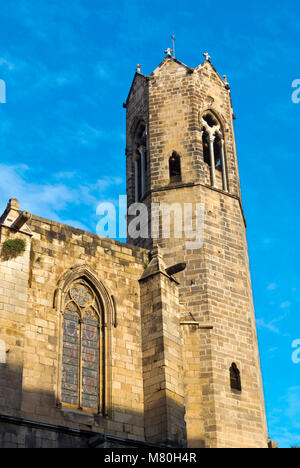 Capella de Santa Agueda, Capella de Santa Agata, Chapel Santa Agada, St Agnes, Placa del Rei, Barri Gotic, Barcelona, - Stock Photo