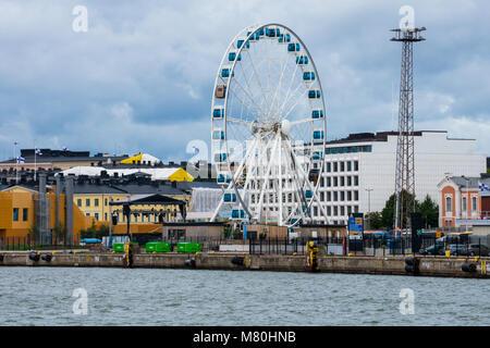 Helsinki, Finland. August 26, 2017. View of Skywheel Helsinki - Stock Photo