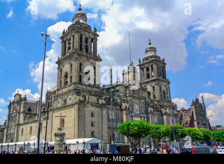 cathedral metropolitana mexico city mexico - Stock Photo