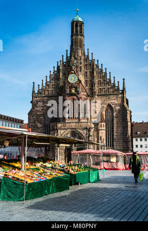 The Frauenkirche (Church of Our Lady), Nuremberg, Germany, Europe. - Stock Photo