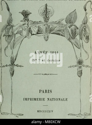 Bulletin du Muséum national d'histoire naturelle (1914) (14785043095) Stock Photo