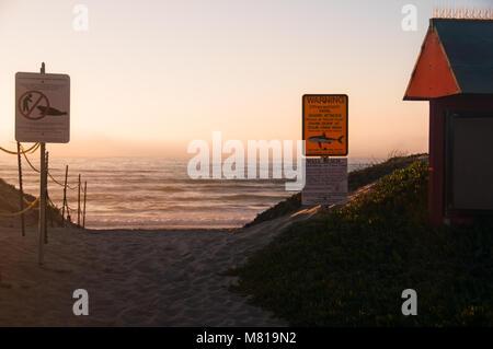 Wall Beach at Vandenberg Air Force Base in California - Stock Photo