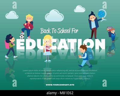 Back to school for education banner