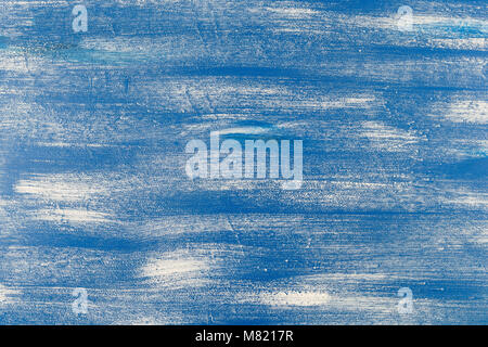 seamless bold pattern with thick brushstrokes and thin stripes hand painted in blue and white colors. Dynamic striped - Stock Photo