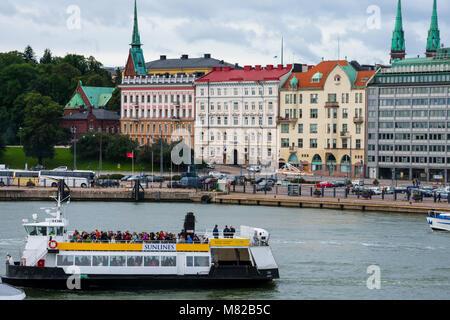 Helsinki, Finland. August 26, 2017. View of Helsinki South Harbour (Etelasatama) - Stock Photo