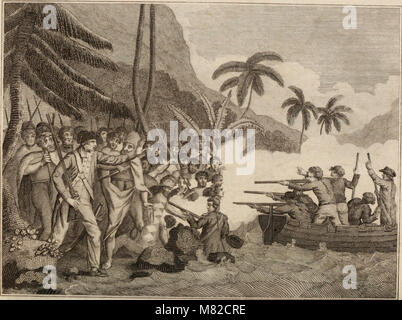 Captain Cook's original voyages round the world, performed by royal authority - containing the whole of his discoveries - Stock Photo