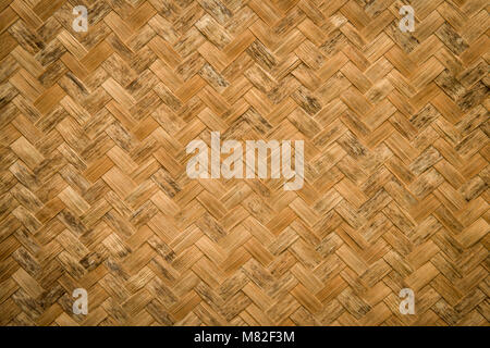 Traditional weave pattern by original folk Thai style background - Stock Photo
