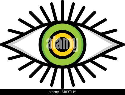 One Eye Of God Religious Sign Symbol Logo Logotype Vector Stock