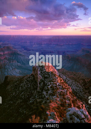 Sunset, Point Sublime, Grand Canyon National Park, Arizona - Stock Photo