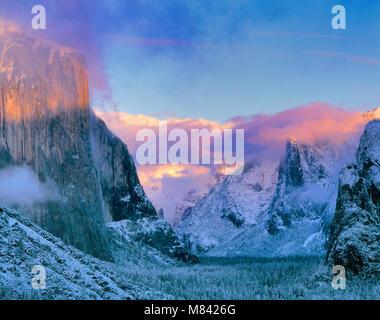 Clearing Storm, El Capitan, Yosemite National Park, California - Stock Photo