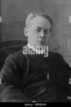 Portrait of Monseigneur Baudrillart ( 1859 - 1942 ) cardinal  -  photography by  Henri Manuel ( 1874 - 1947 ) - Stock Photo