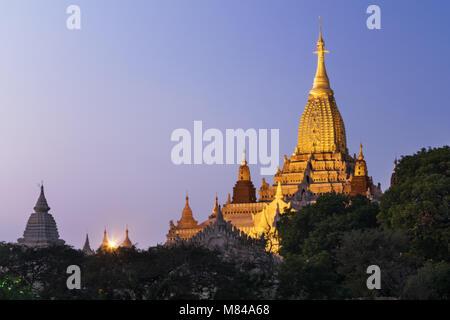 Ananda Pahto Temple, Bagan, Myanmar - Stock Photo