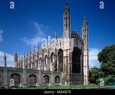 King's College, Cambridge, England, UK - Stock Photo
