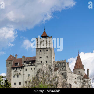 Bran Castle famous for the myth of Dracula, Brasov, Romania - Stock Photo