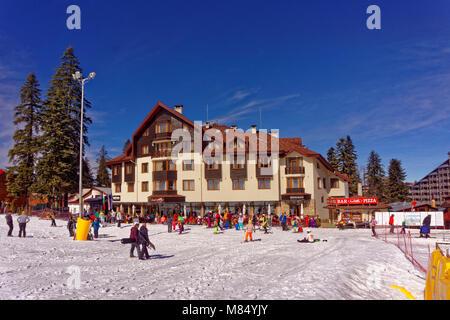 Hotel Ice Angels at Borovets Ski resort, Targovishte, Bulgaria. - Stock Photo